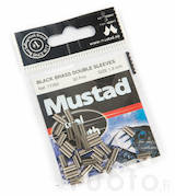 Mustad Black Brass Double Sleeves -  - 7021560433360 - 1