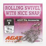 Agat Rolling Swivel With Nice Snap -  - 4751015704242 - 1
