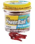 Berkley Powerbait Mud Worm Blood Maxi -  - 028632152256